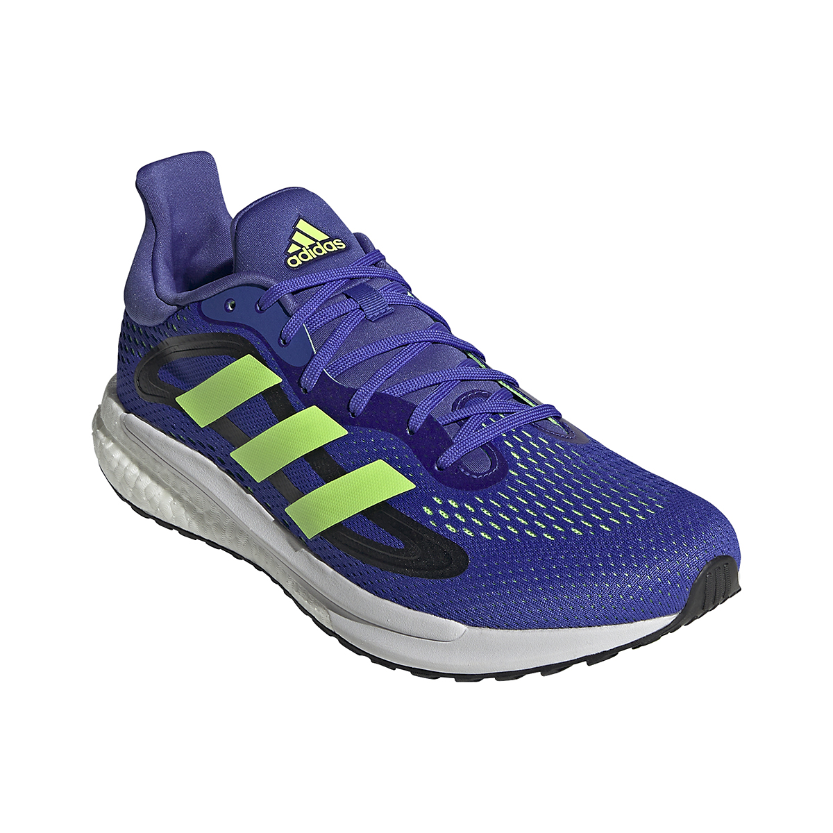 Men's Adidas SolarGlide 4 Running Shoe - Color: Sonic Ink/Signal Green/Core Black - Size: 6.5 - Width: Regular, Sonic Ink/Signal Green/Core Black, large, image 3