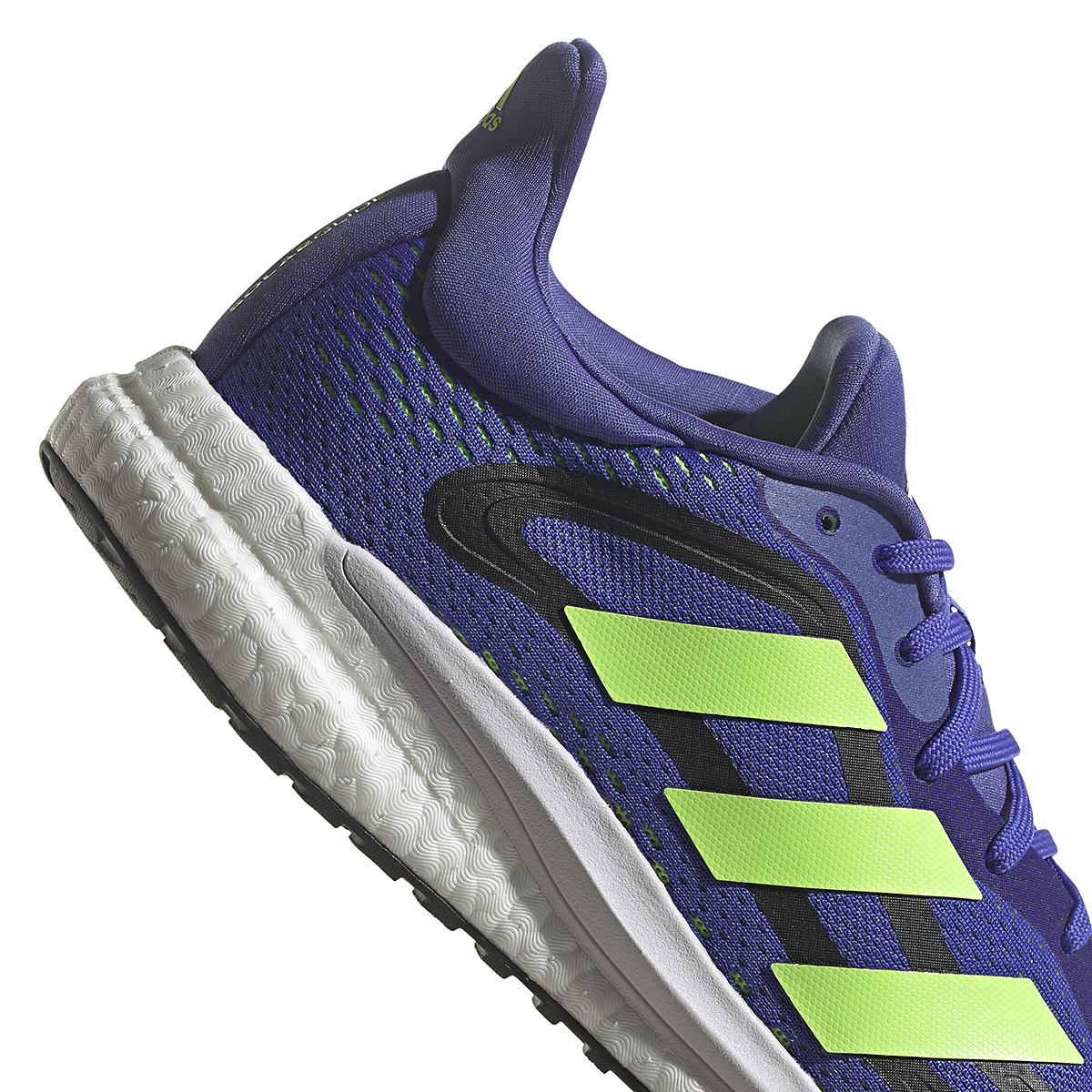 Men's Adidas SolarGlide 4 Running Shoe - Color: Sonic Ink/Signal Green/Core Black - Size: 6.5 - Width: Regular, Sonic Ink/Signal Green/Core Black, large, image 4