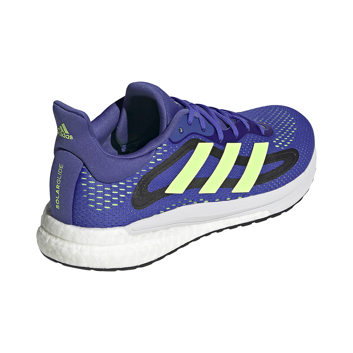 Men's Adidas SolarGlide 4 Running Shoe - Color: Sonic Ink/Signal Green/Core Black - Size: 6.5 - Width: Regular, Sonic Ink/Signal Green/Core Black, large, image 5