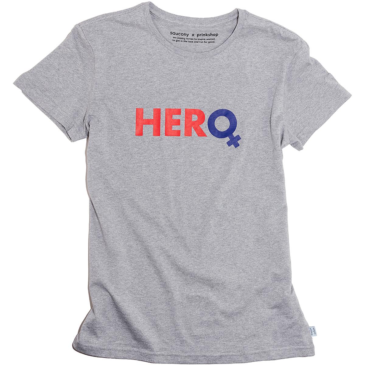 Men's Saucony x Prinkshop Hero T-Shirt  - Color: Light Grey Heather - Size: S, Light Grey Heather, large, image 1