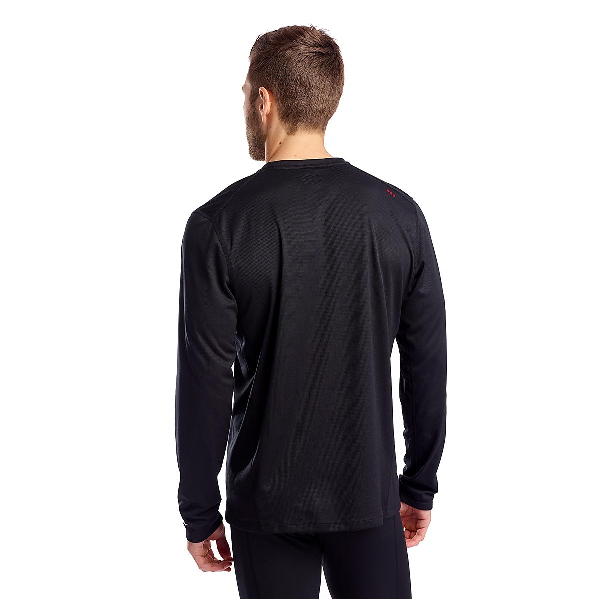 Men's Saucony Stopwatch Long Sleeve - Color: Black - Size: S, Black, large, image 2