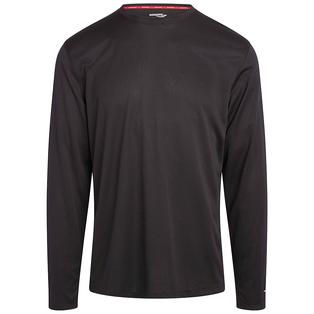 Men's Saucony Stopwatch Long Sleeve - Color: Black - Size: S, Black, large, image 3