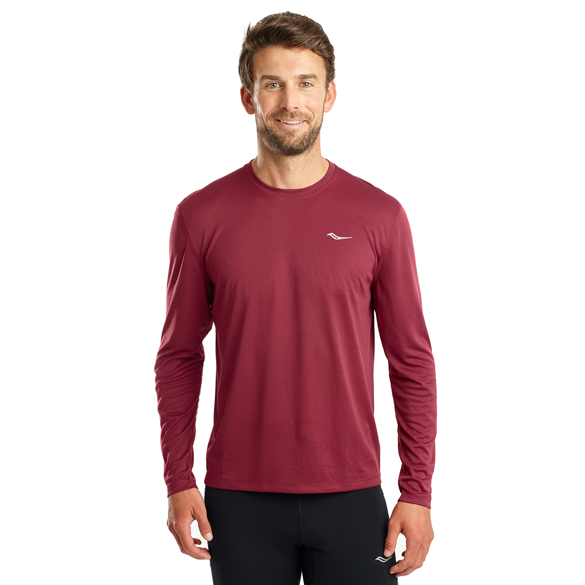 Men's Saucony Stopwatch Long Sleeve, , large, image 1