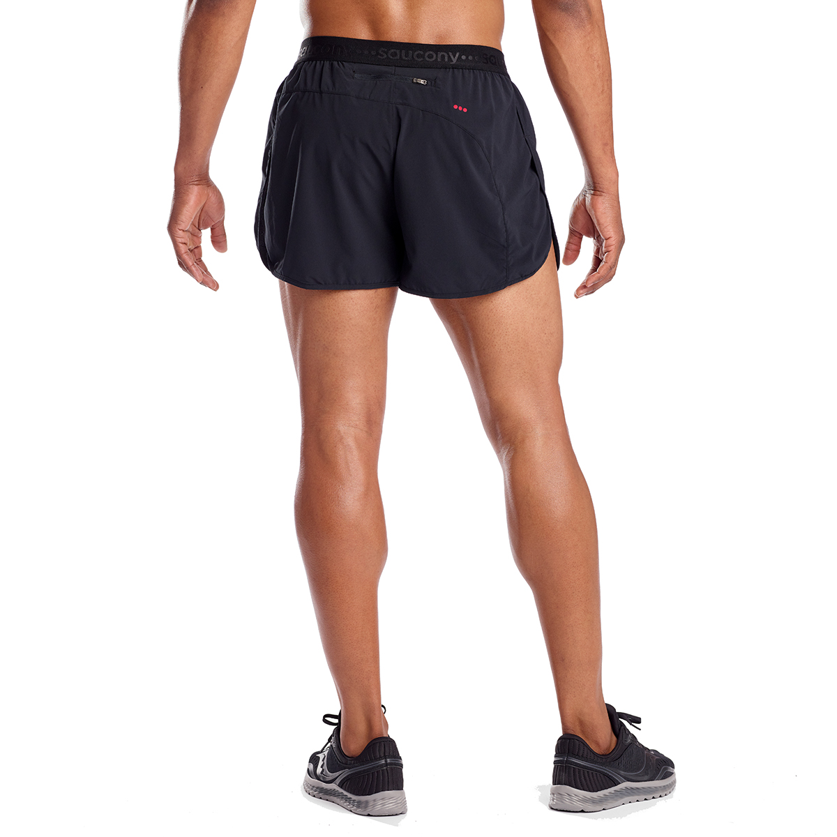 Men's Saucony Split Second 2.5'' Short  - Color: Black - Size: L, Black, large, image 2