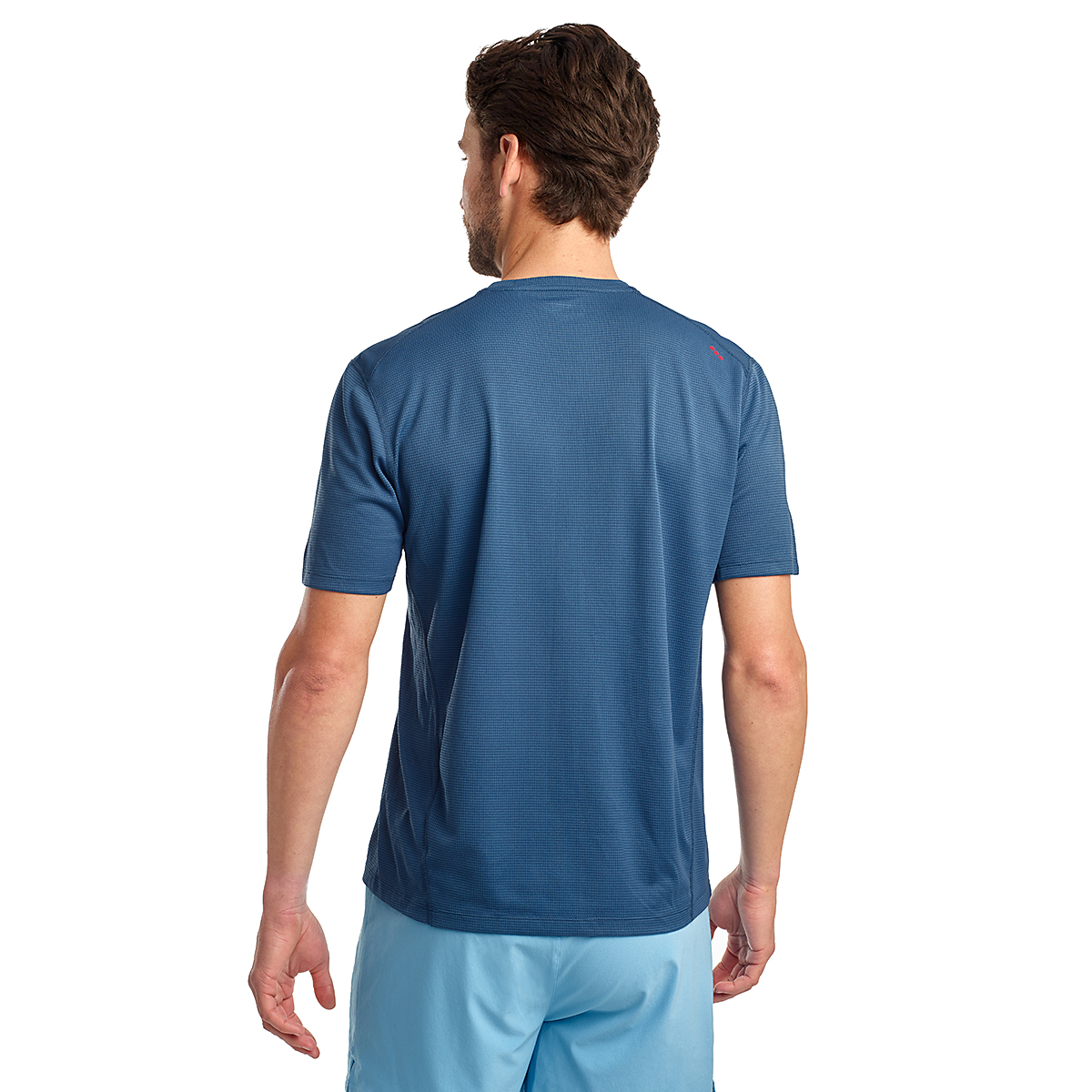 Men's Saucony Stopwatch Short Sleeve - Color: Ensign Blue - Size: S, Ensign Blue, large, image 2