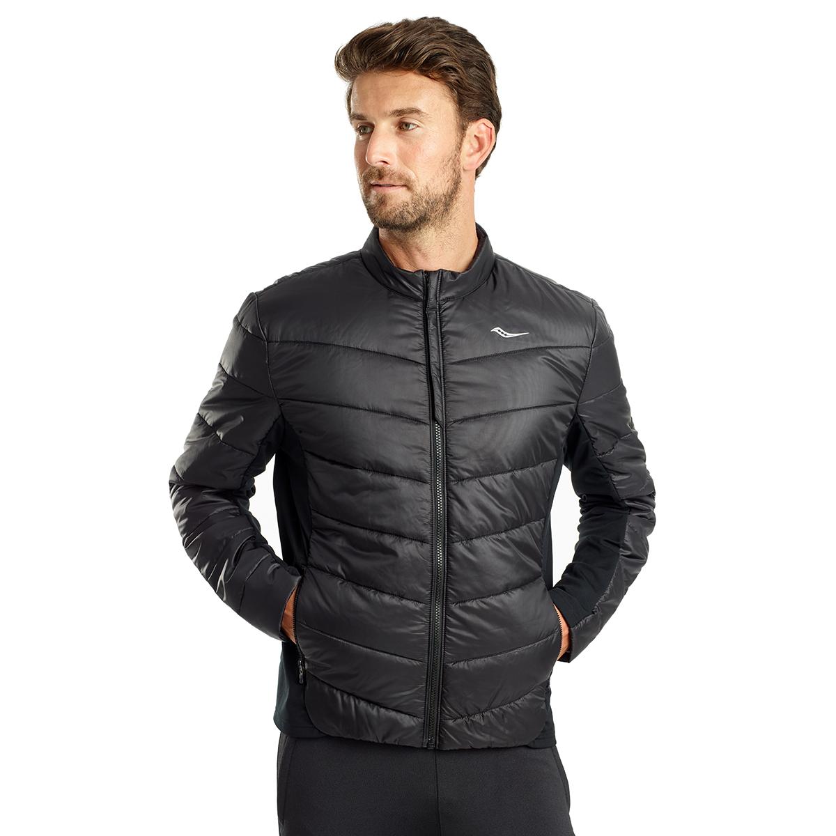Men's Saucony Snowdrift Jacket  - Color: Black - Size: S, Black, large, image 1