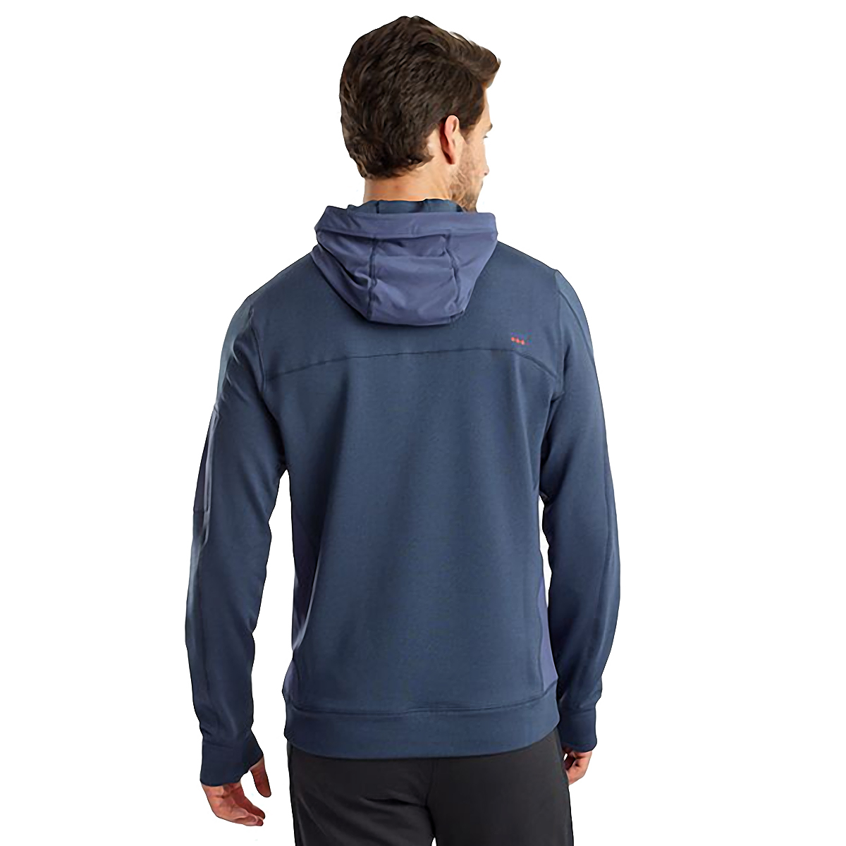 Men's Saucony Daybreak Hoodie  - Color: Mood Indigo - Size: L, Mood Indigo, large, image 2