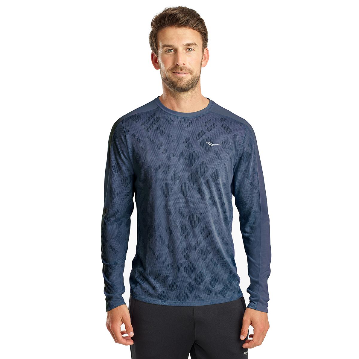 Men's Saucony Ramble Long Sleeve  - Color: Mood Indigo - Size: S, Mood Indigo, large, image 1
