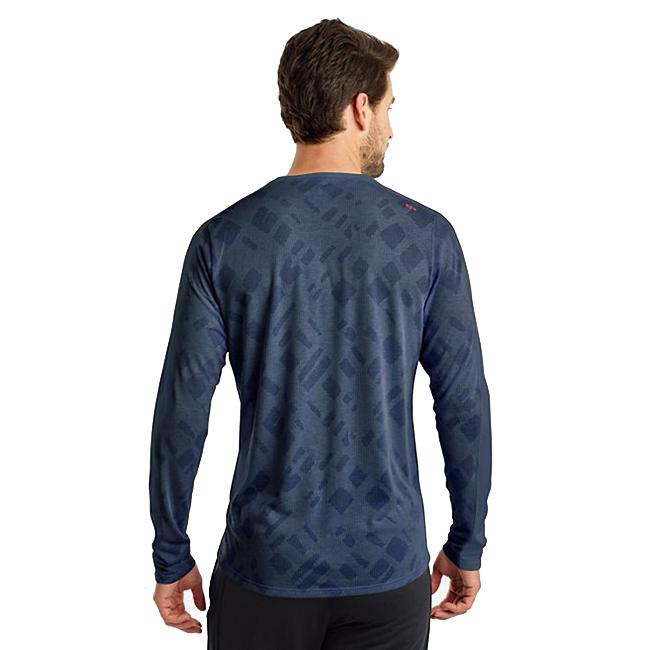 Men's Saucony Ramble Long Sleeve  - Color: Mood Indigo - Size: S, Mood Indigo, large, image 2