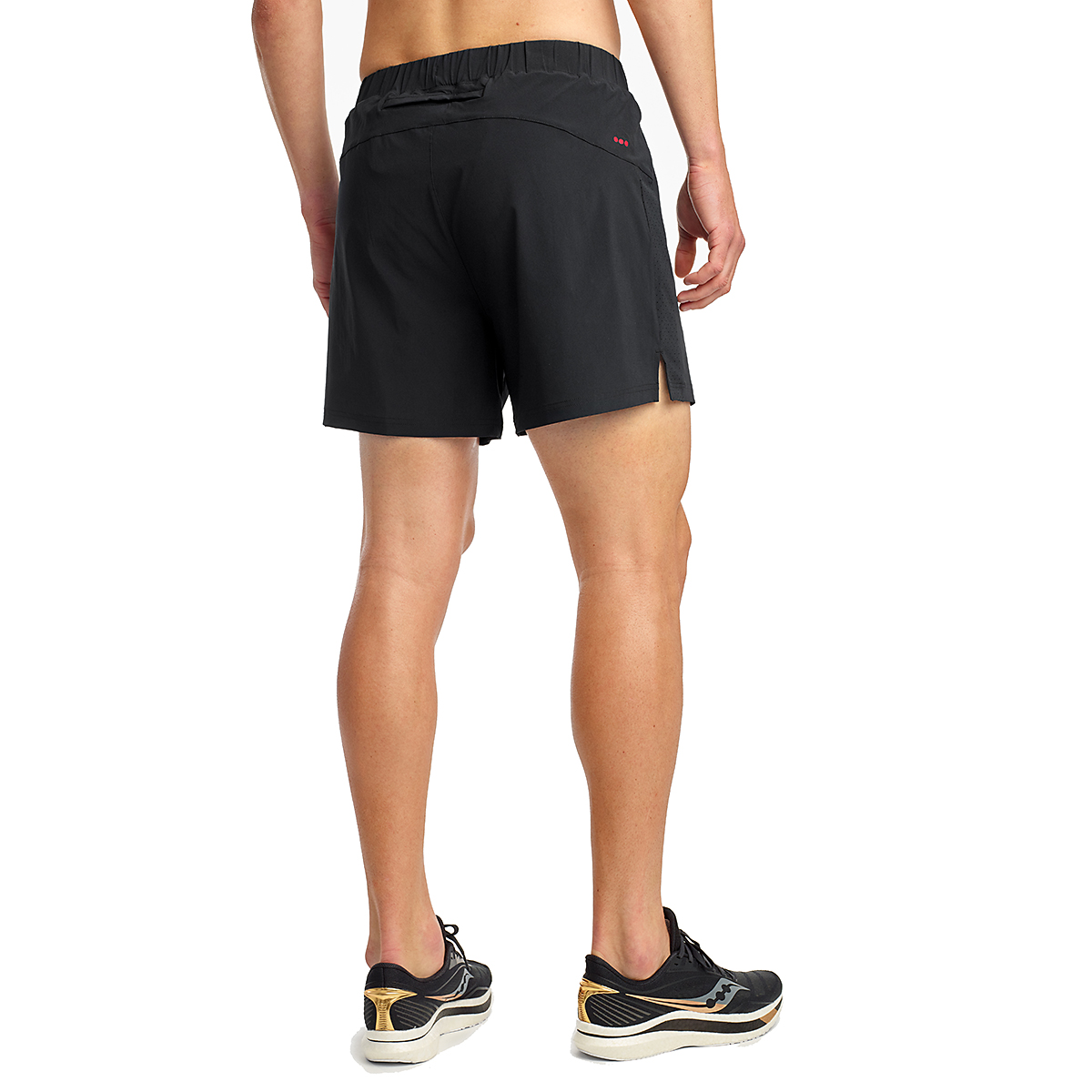"Men's Saucony Outpace 5"" Short - Color: Black - Size: S, Black, large, image 2"