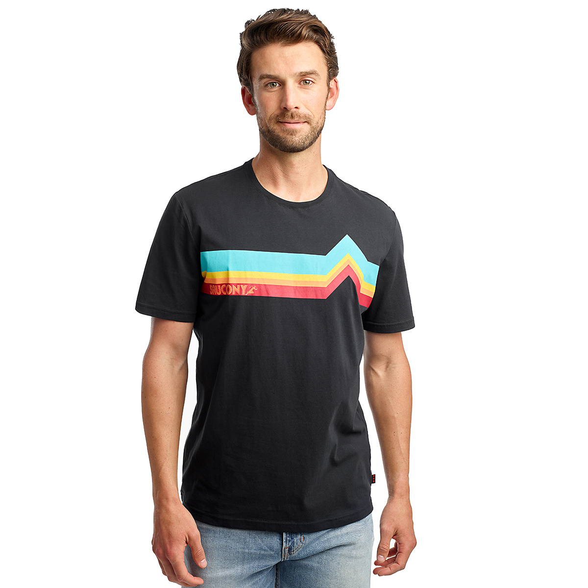 Men's Saucony Rested Short Sleeve Tee, , large, image 1