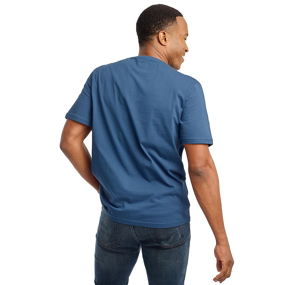 Men's Saucony Rested Short Sleeve Tee - Color: Ensign Blue - Size: S, Ensign Blue, large, image 2