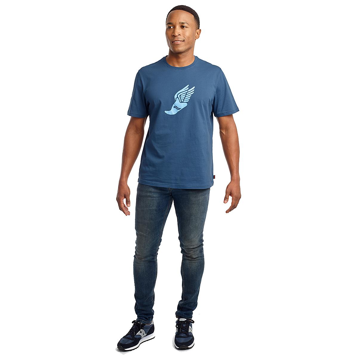 Men's Saucony Rested Short Sleeve Tee - Color: Ensign Blue - Size: S, Ensign Blue, large, image 3