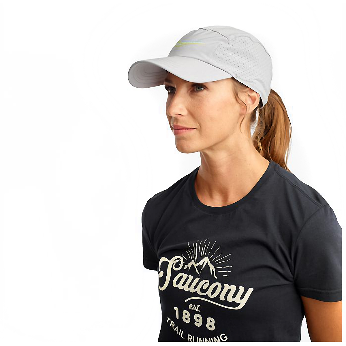 Saucony Outpace Hat - Color: Alloy, Alloy, large, image 1