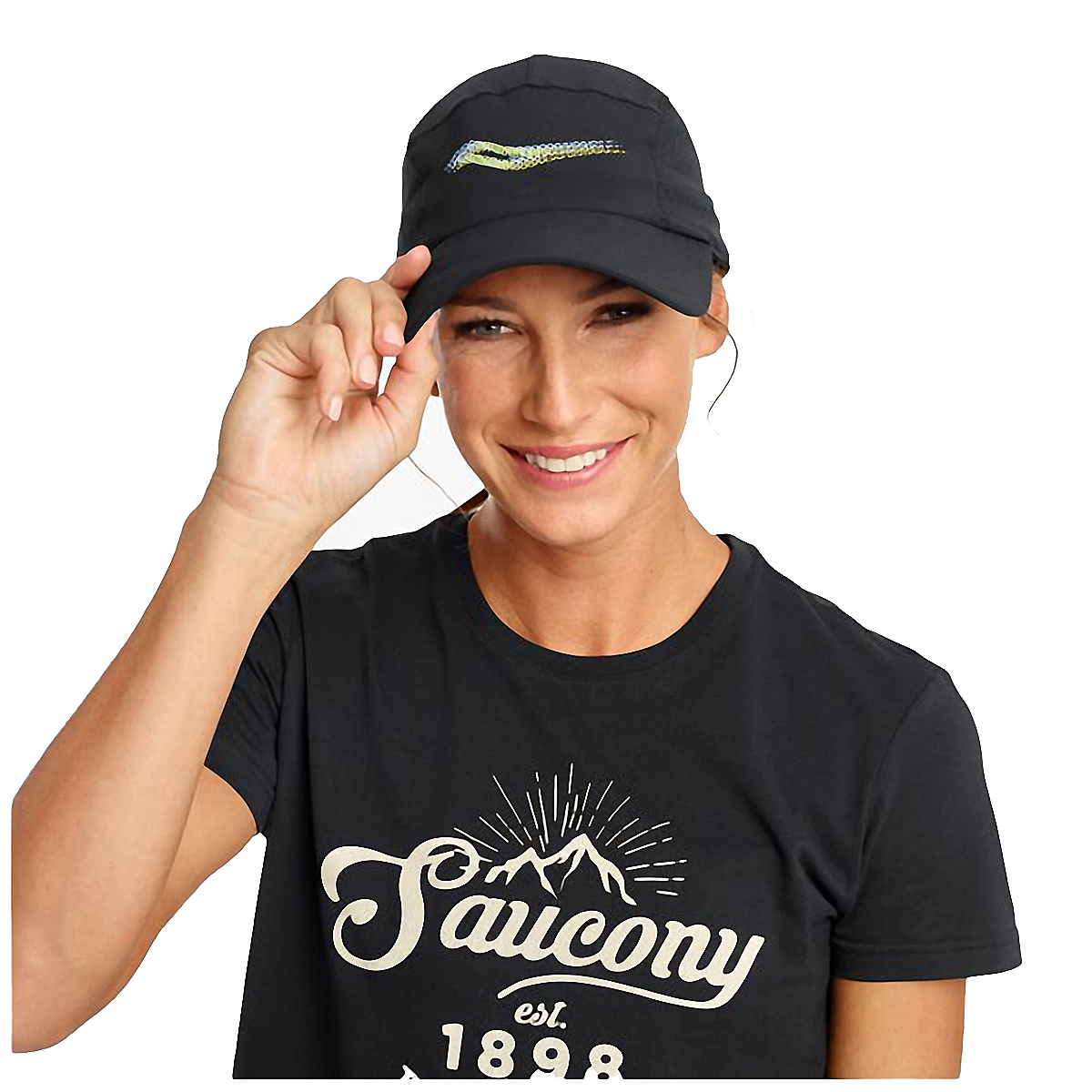 Saucony Outpace Hat - Color: Black, Black, large, image 1