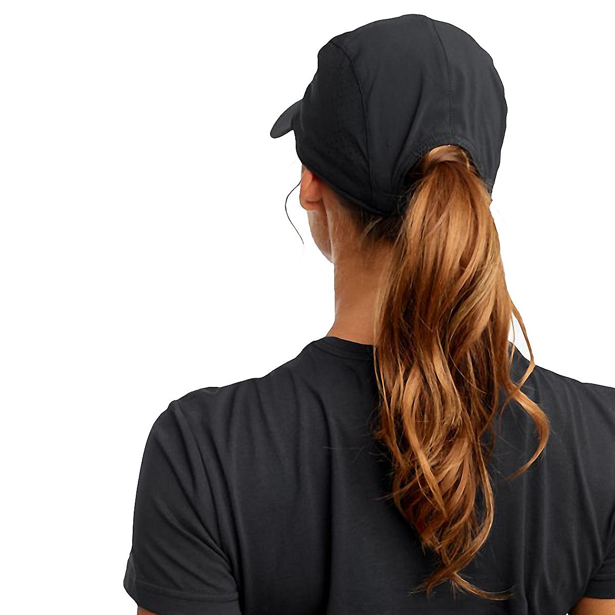 Saucony Outpace Hat - Color: Black, Black, large, image 2