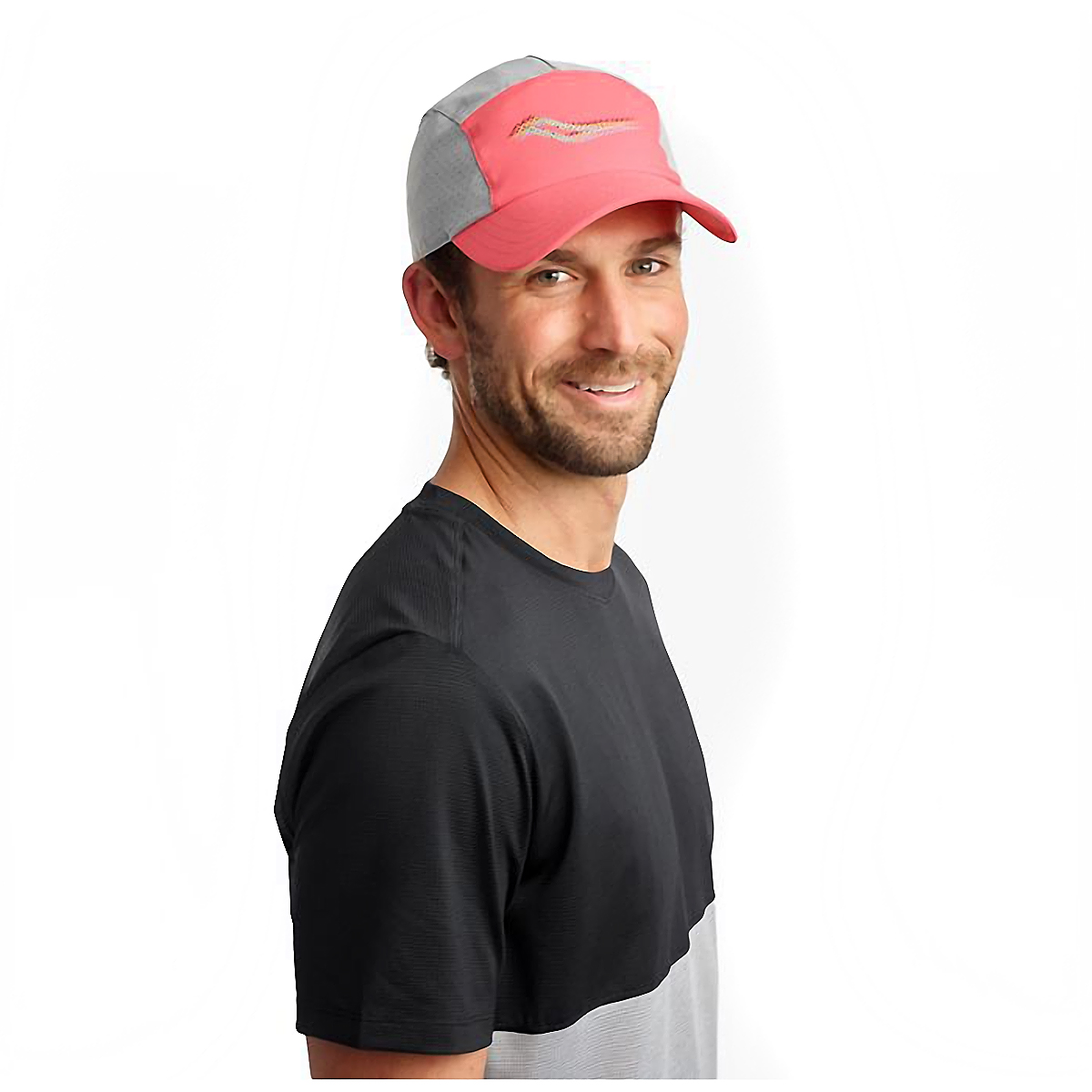 Saucony Outpace Hat - Color: Calypso Coral, Calypso Coral, large, image 3