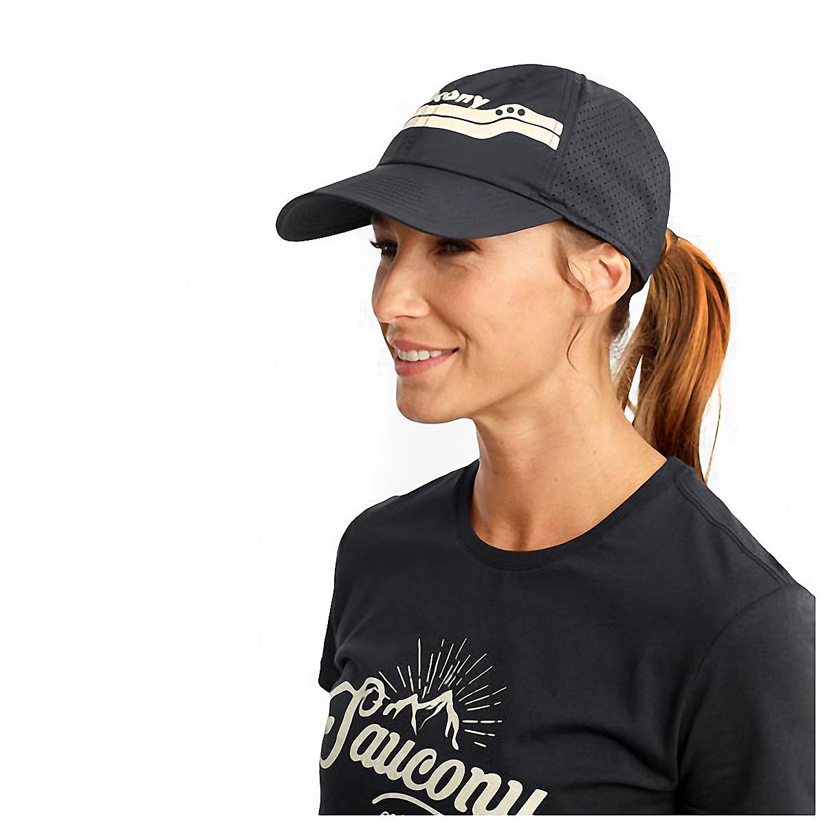 Saucony Doubleback Hat - Color: Black, Black, large, image 1