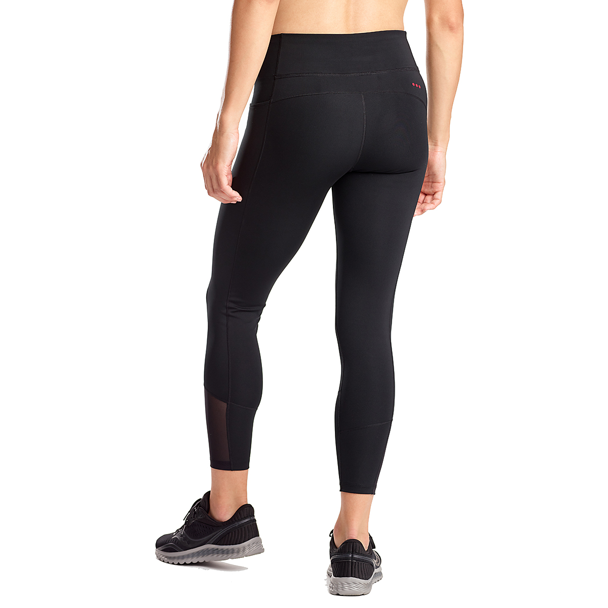 Women's Saucony Fortify 7/8 Tight - Color: Black - Size: XXS, Black, large, image 2