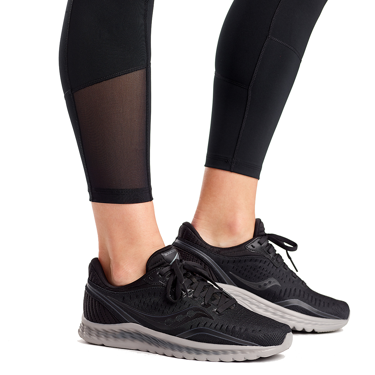 Women's Saucony Fortify 7/8 Tight - Color: Black - Size: XXS, Black, large, image 3