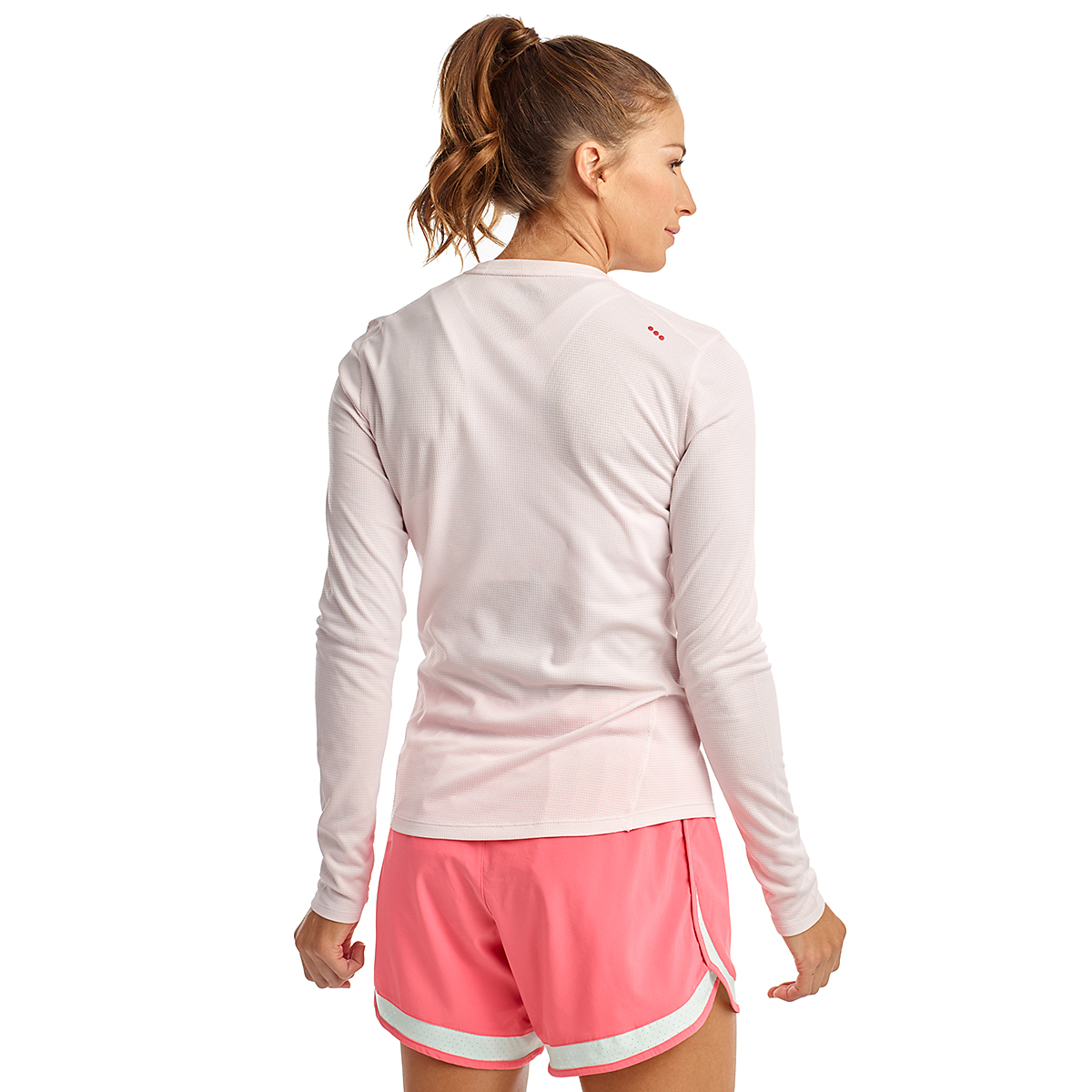 Women's Saucony Stopwatch Long Sleeve - Color: Barely Pink - Size: XXS, Barely Pink, large, image 2