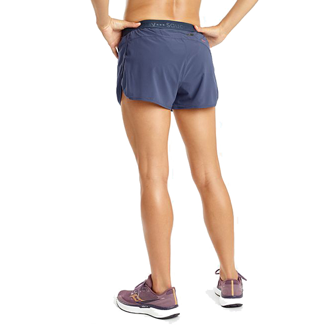 Women's Saucony Split 2.5 Short  - Color: Mood Indigo - Size: XXS, Mood Indigo, large, image 2