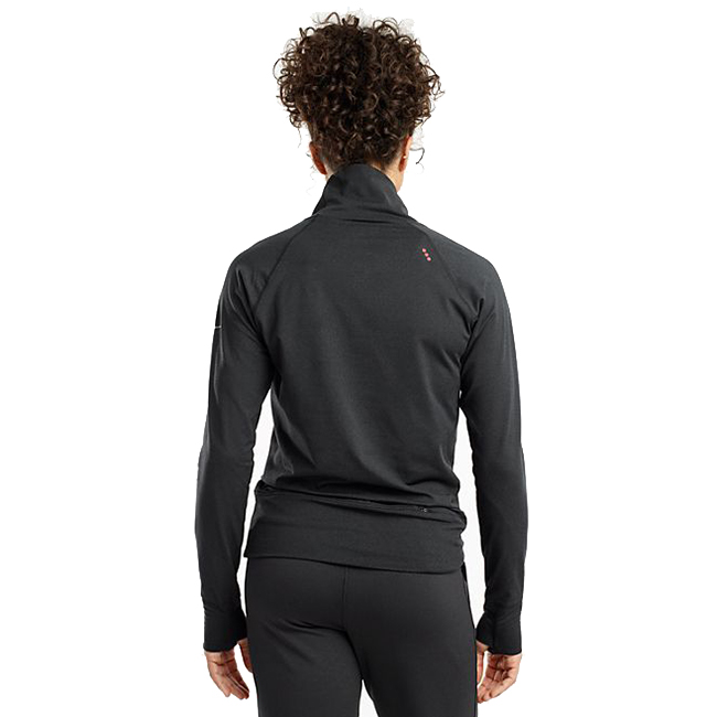 Women's Saucony Sunday Funnel Neck Pullover - Color: Black Heather - Size: XXS, Black Heather, large, image 2