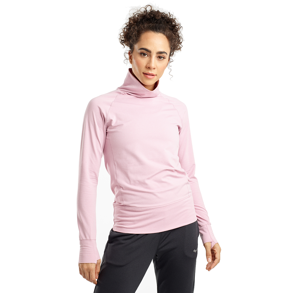 Women's Saucony Sunday Funnel Neck Pullover - Color: Dawn Pink Heather - Size: XS, Dawn Pink Heather, large, image 1
