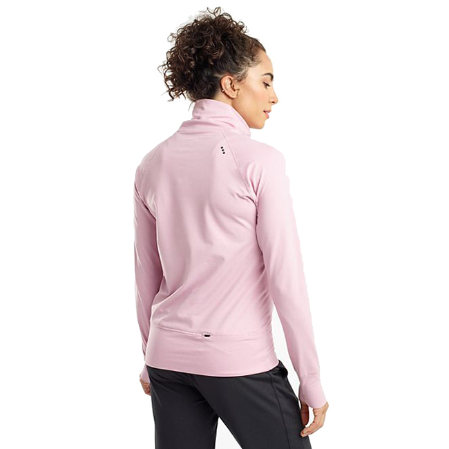Women's Saucony Sunday Funnel Neck Pullover - Color: Dawn Pink Heather - Size: XS, Dawn Pink Heather, large, image 2