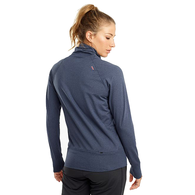 Women's Saucony Sunday Funnel Neck Pullover - Color: Mood Indigo Heather - Size: M, Mood Indigo Heather, large, image 2