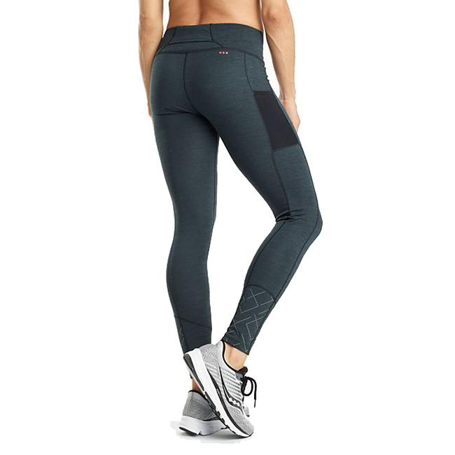 Women's Saucony Solstice Tight  - Color: Black Heather - Size: XS, Black Heather, large, image 2