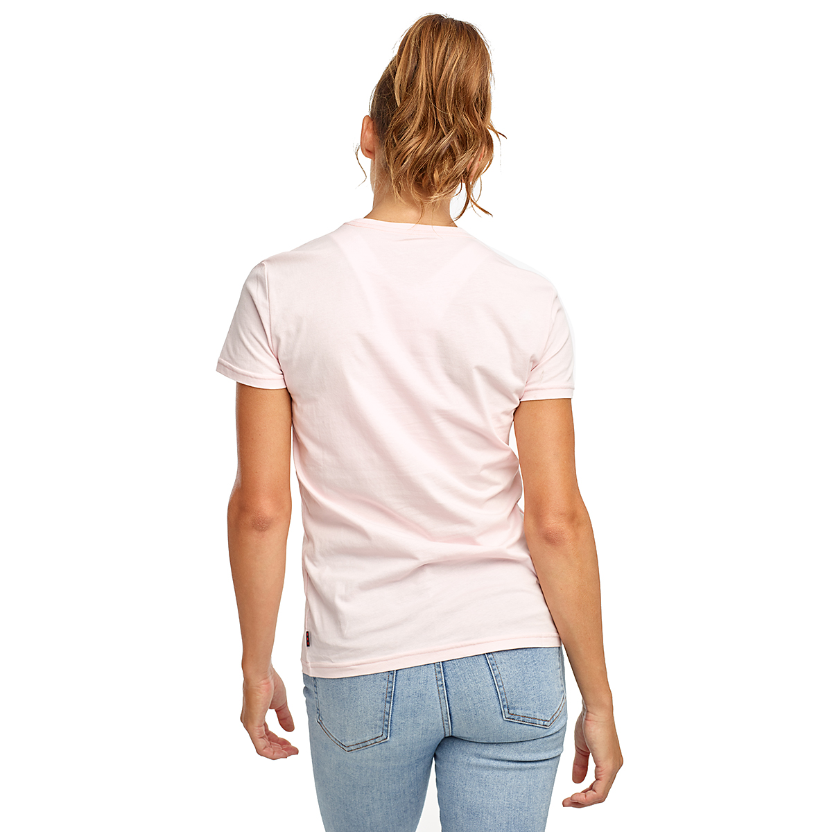 Women's Saucony Rested Short Sleeve - Color: Barely Pink - Size: XXS, Barely Pink, large, image 2