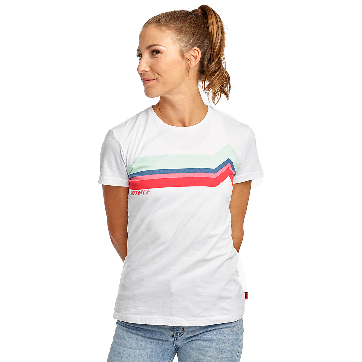 Women's Saucony Rested Short Sleeve - Color: White - Size: XXS, White, large, image 1