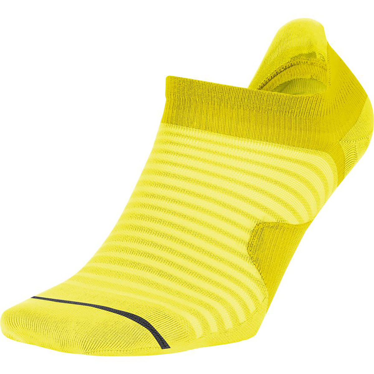 Nike Spark Lightweight No-Show Running Socks - Color: Neon Yellow - Size: 4/5.5, Neon Yellow, large, image 1