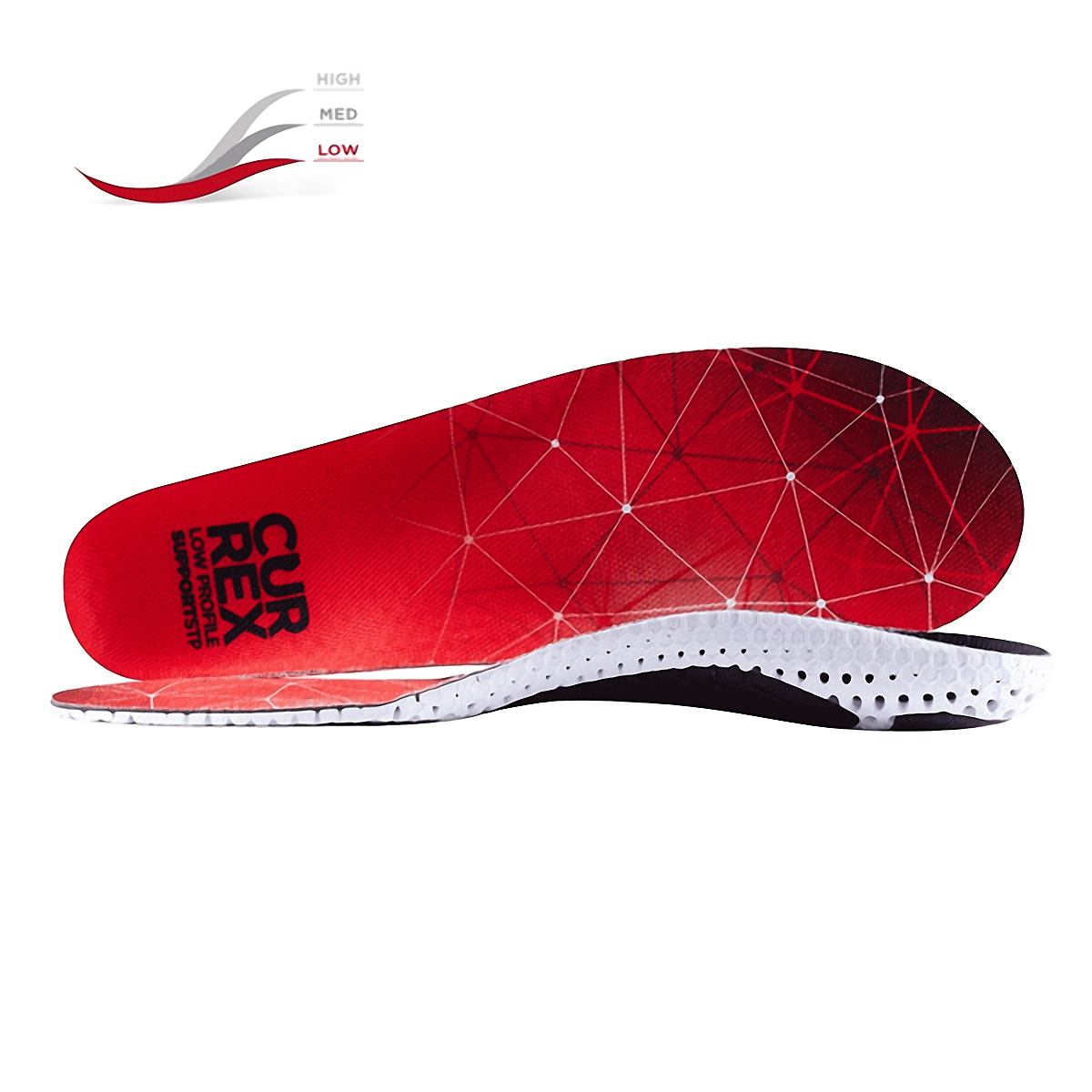 Currex Insole SupportSTP Low Profile - Color: Red Size: XS, Red, large, image 1
