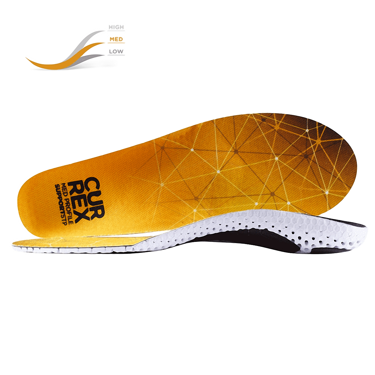 Currex Insole SupportSTP Medium Profile - Color: Orange Size: XS, Orange, large, image 1