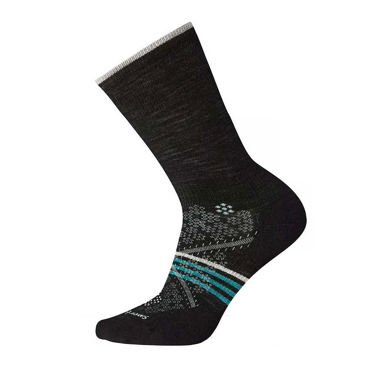 Women's Smartwool Women's Smartwool PhD Run Light Elite Crew Socks  - Color: Black - Size: S, Black, large, image 1