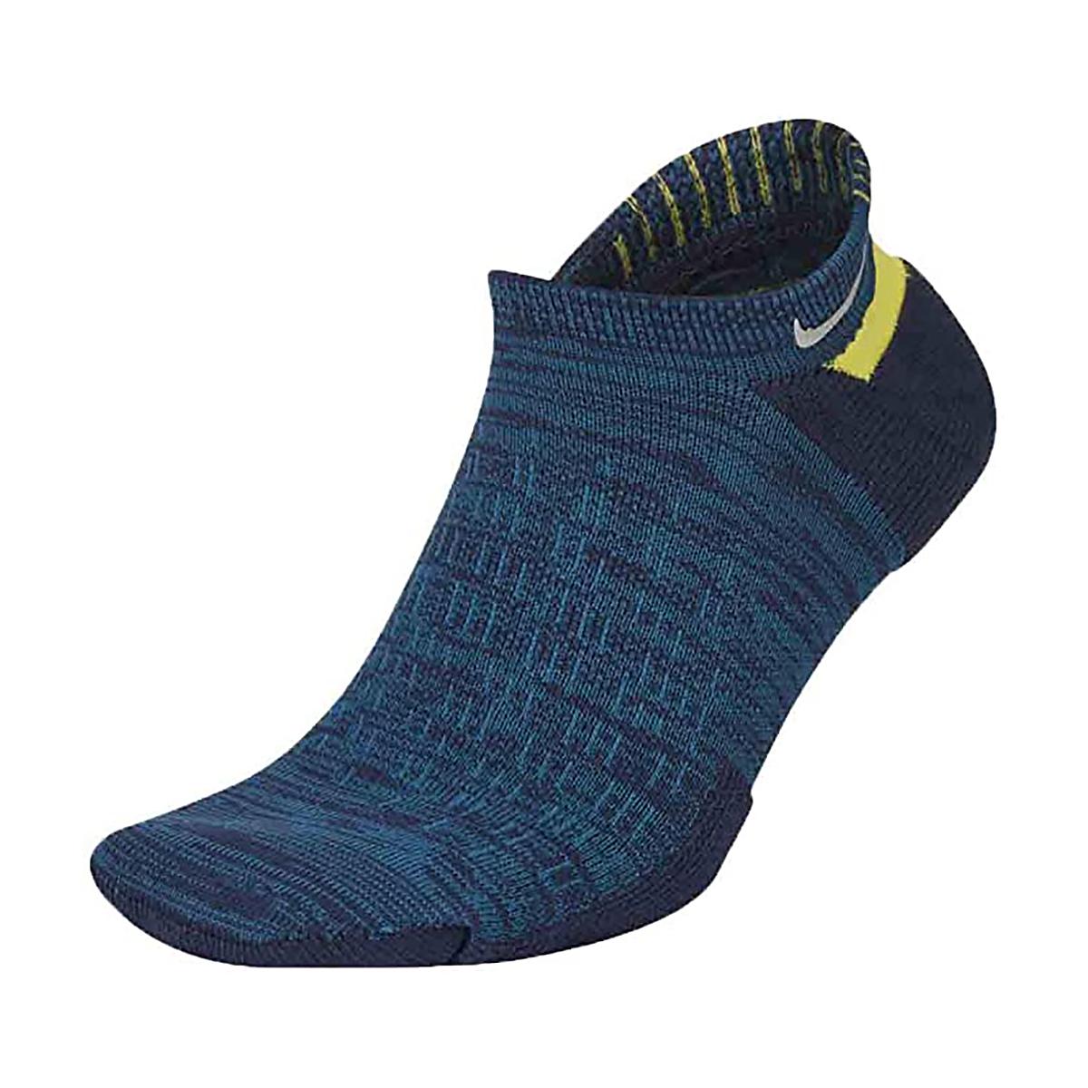 Nike Elite Cushioned No-Show Socks - Color: Blackened Blue - Size: 4/5.5, Blackened Blue, large, image 1