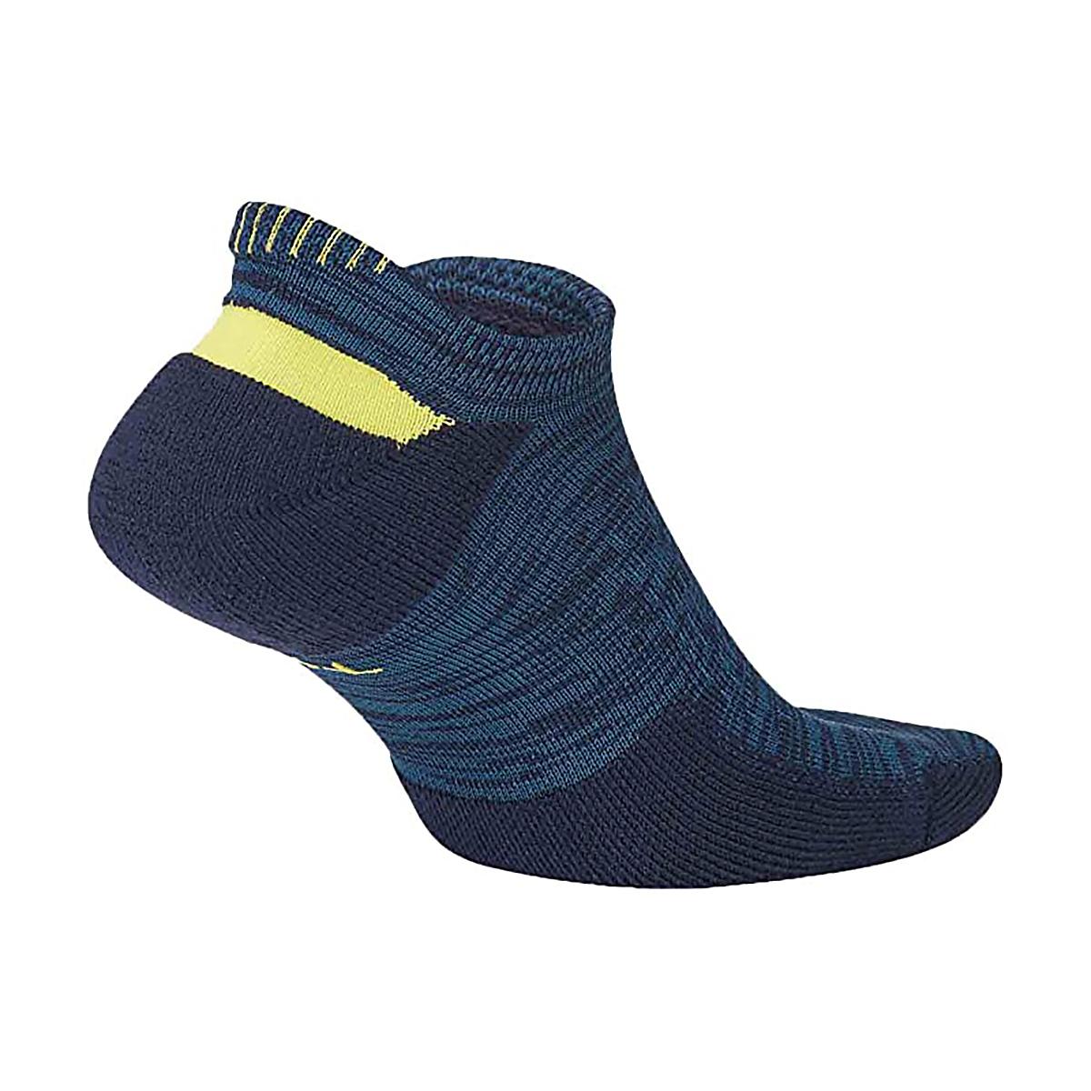 Nike Elite Cushioned No-Show Socks - Color: Blackened Blue - Size: 4/5.5, Blackened Blue, large, image 2