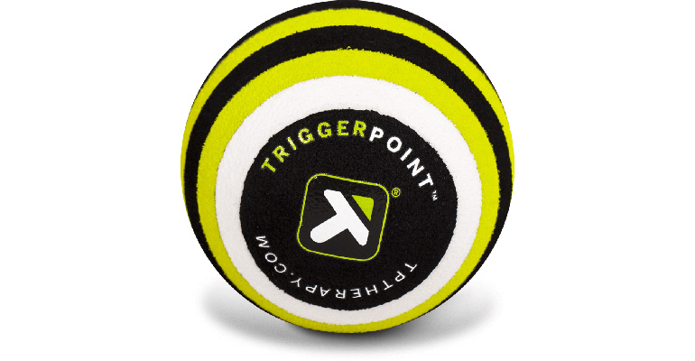 TRIGGERPOINT MB1 2.6 Inch Massage Ball - Color: Yellow/Black - Size: One Size, Yellow/Black, large, image 1