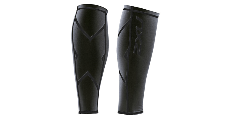 2XU Compression Calf Guard - Color: Steel - Size: XS, Black, large, image 1