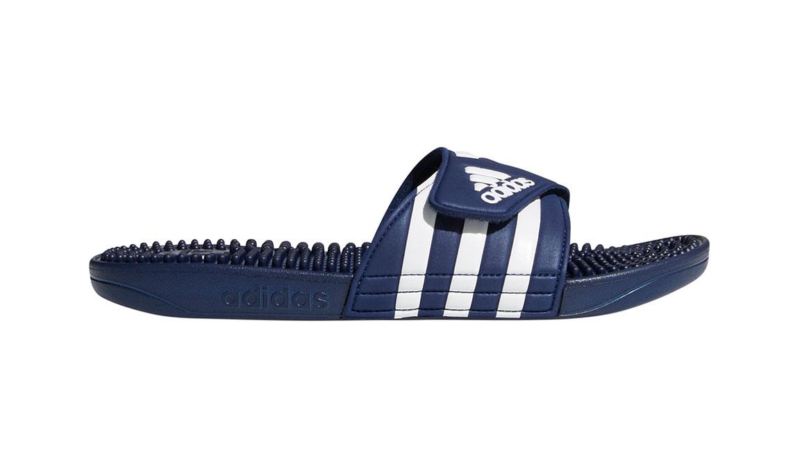 Adidas Adissage Recovery Slides - Color: Dark Blue/Footwear White (Regular Width) - Size: 14, Dark Blue/White, large, image 1