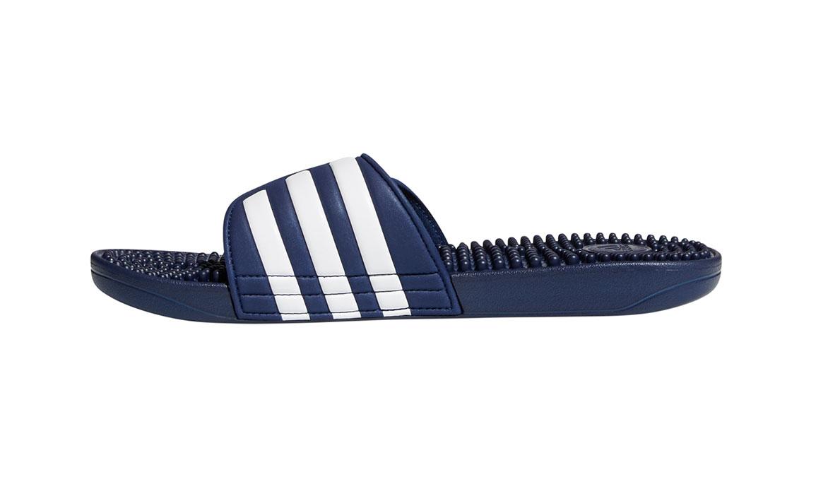 Adidas Adissage Recovery Slides - Color: Dark Blue/Footwear White (Regular Width) - Size: 14, Dark Blue/White, large, image 2