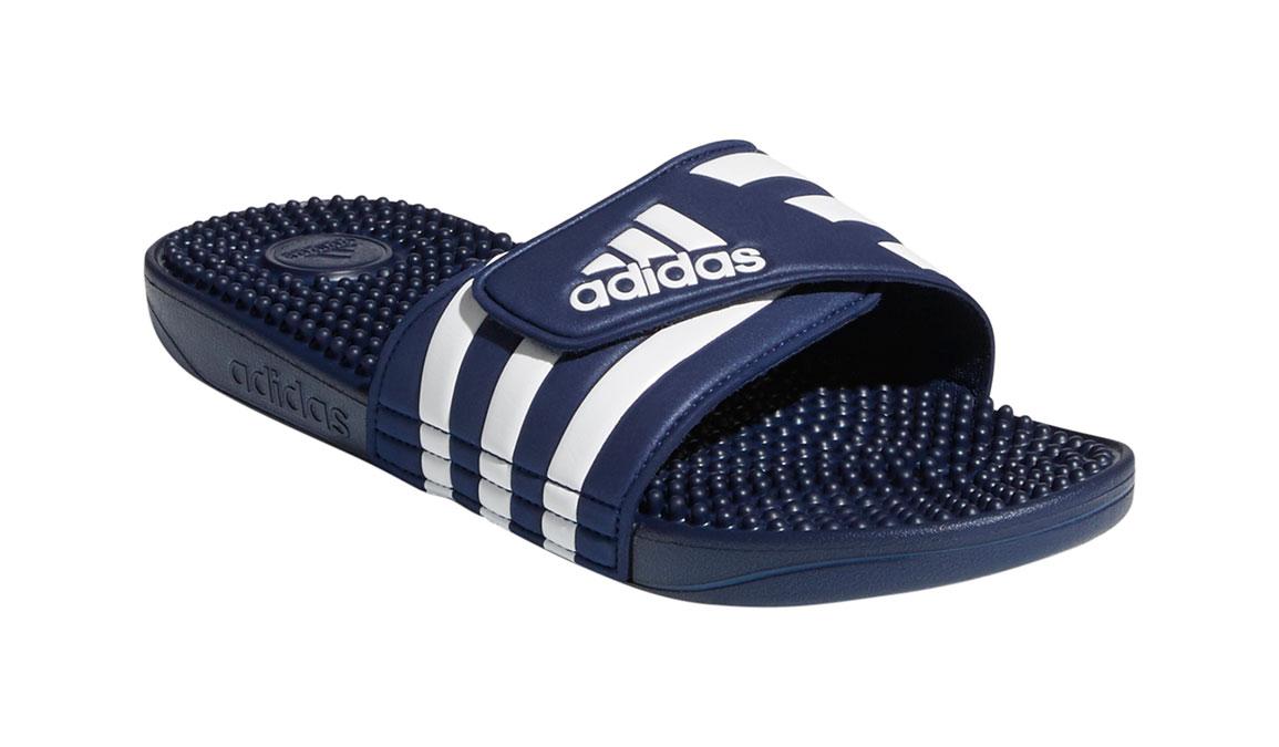 Adidas Adissage Recovery Slides - Color: Dark Blue/Footwear White (Regular Width) - Size: 14, Dark Blue/White, large, image 3