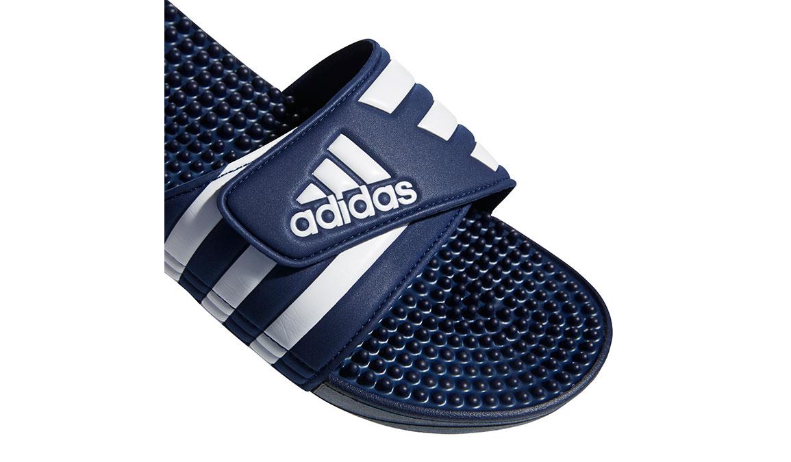 Adidas Adissage Recovery Slides - Color: Dark Blue/Footwear White (Regular Width) - Size: 14, Dark Blue/White, large, image 4