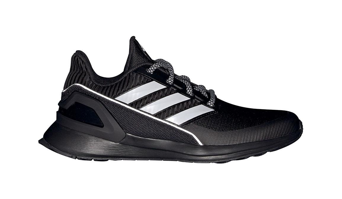 Kids Adidas Grade School RapidaRun KNIT - Color: Black/White (Regular Width) - Size: 5, Black/White, large, image 1