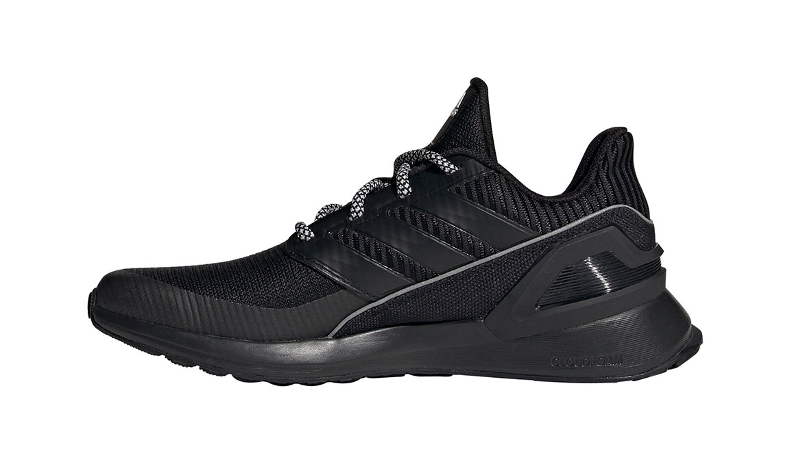 Kids Adidas Grade School RapidaRun KNIT - Color: Black/White (Regular Width) - Size: 5, Black/White, large, image 2