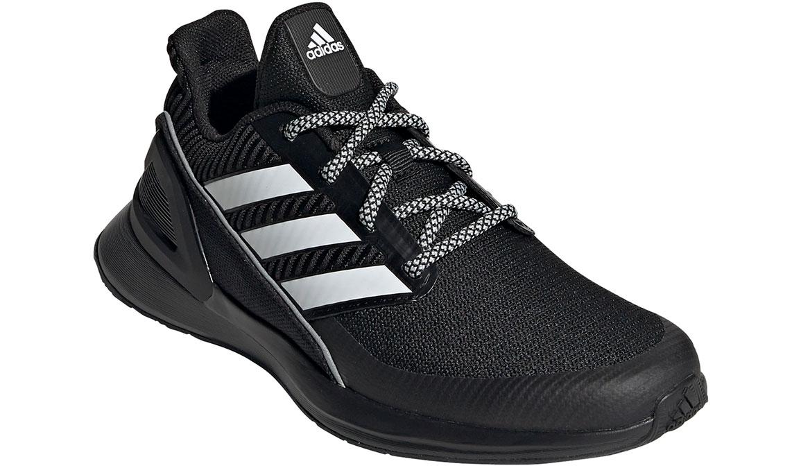 Kids Adidas Grade School RapidaRun KNIT - Color: Black/White (Regular Width) - Size: 5, Black/White, large, image 4