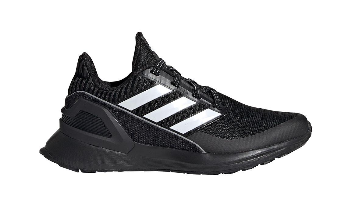 Kid's Adidas Preschool RapidaRun Knit Running Shoe - Color: Black/White (Regular Width) - Size: 1, Black/White, large, image 1