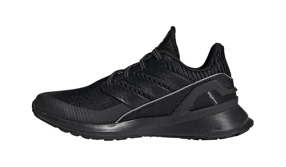 Kid's Adidas Preschool RapidaRun Knit Running Shoe - Color: Black/White (Regular Width) - Size: 1, Black/White, large, image 2